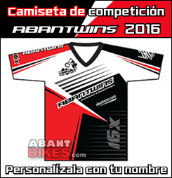 Camiseta Competici�n AbanTwins 2015 - OFICIAL ABANT BIKES