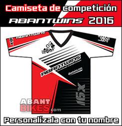Camiseta Competición AbanTwins 2015 - OFICIAL ABANT BIKES