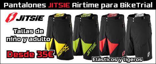 Pantalon corto JITSIE Airtime oferta descuento para BikeTrial - ABANT BIKES
