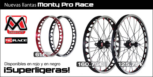 Nuevas llantas Monty Pro Race