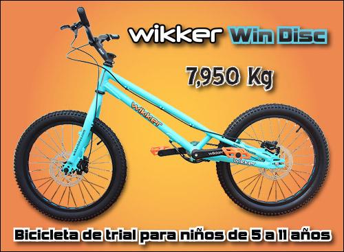 Wikker Win Disc - Bicicleta de trial infantil - 5 a 11 - Abant Bikes