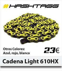 ABANT BIKES Nueva cadena light color colores Hashtagg KMC 610HX