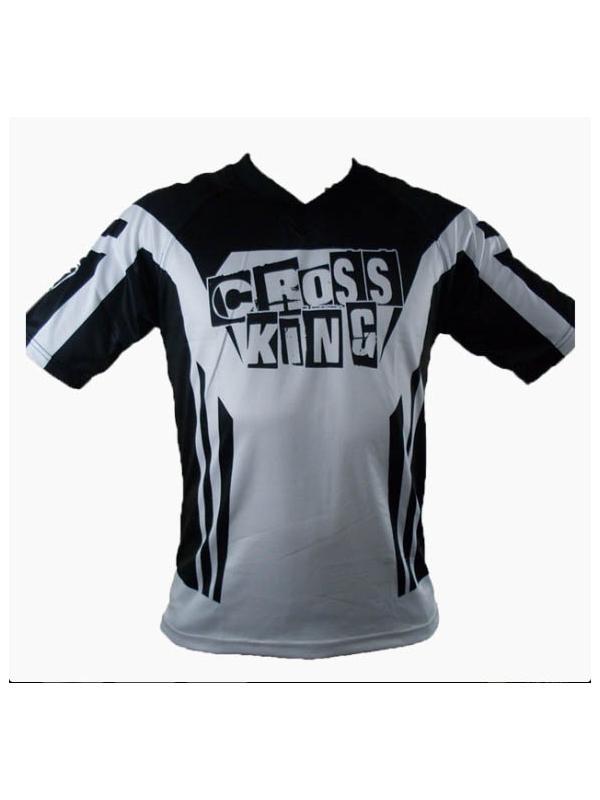 Camiseta Cross King Aero - Blanca - Camiseta técnica de competición Cross King Supra para BikeTrial y Trial. Fabricada con tejidos de alta calidad, que ofrece una gran transpiración y buen tacto. Máxima comodidad en cualquier circunstancia. Camiseta preparada para la alta competición.