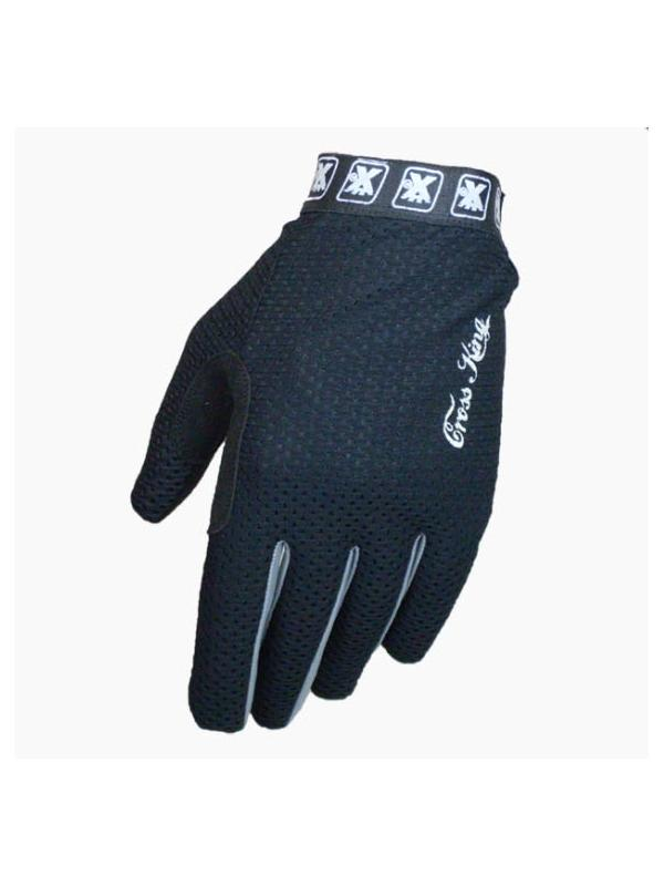 Guantes Cross King Ventil PARA NIÑOS - Negro - Los guantes Cross King Ventil estan diseñados para la práctica del BikeTrial y especialmente para la alta competición. Ofrecen una màxima comodidad, tacto y transpiración. Adaptación óptima gracias a la longitud y anchura adecuada de la tira ajustable. También disponibles en otros colores.