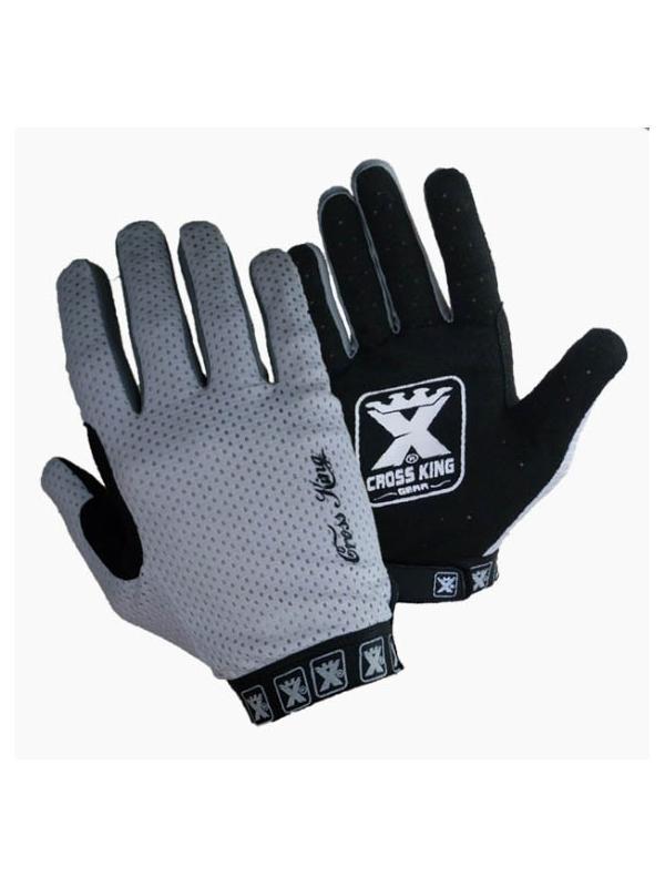 Guantes Cross King Ventil PARA NIÑOS - Blanco - Los guantes Cross King Ventil estan diseñados para la práctica del BikeTrial y especialmente para la alta competición. Ofrecen una màxima comodidad, tacto y transpiración. Adaptación óptima gracias a la longitud y anchura adecuada de la tira ajustable. También disponibles en otros colores.