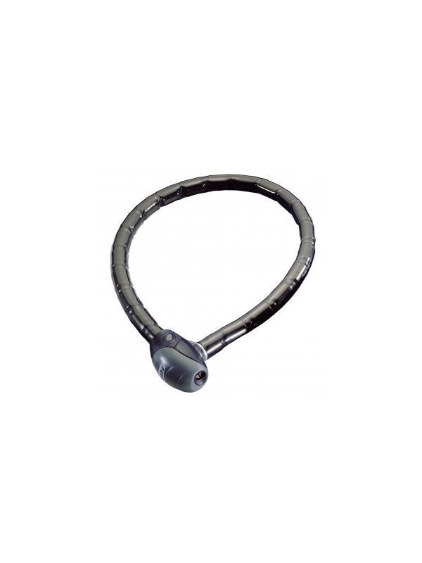 Antirrobo articulado Enduro - Antirrobo articulado por cilindros metálicos de acero con cierre mediante disco antitaladro. Cerradura de 8 discos. Articulación tubo-bola para una mayor flexibilidad. 100cm de largo. Llave de tubo