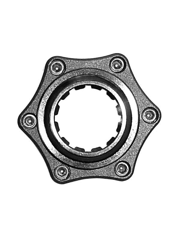 Adaptador para convertir Centerlock a 6 tornillos - Adaptador para convertir sistemas de disco de freno con sistema de fijación Centerlock a sistema de sujeción de disco mediante 6 tornillos.