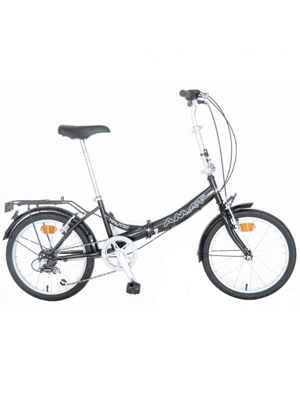 Amat Nautic Acero Shimano bicicletas plegables - Bicicleta plegable de 20 pulgadas. Cuadro de acero. Cambio de marchas Shimano de 6 velocidades. Modelo con una muy buena relación calidad-precio y muy buenos acabados. Color negro brillante. Manillar Ajustable en altura. Mando de cambio Gripshift.