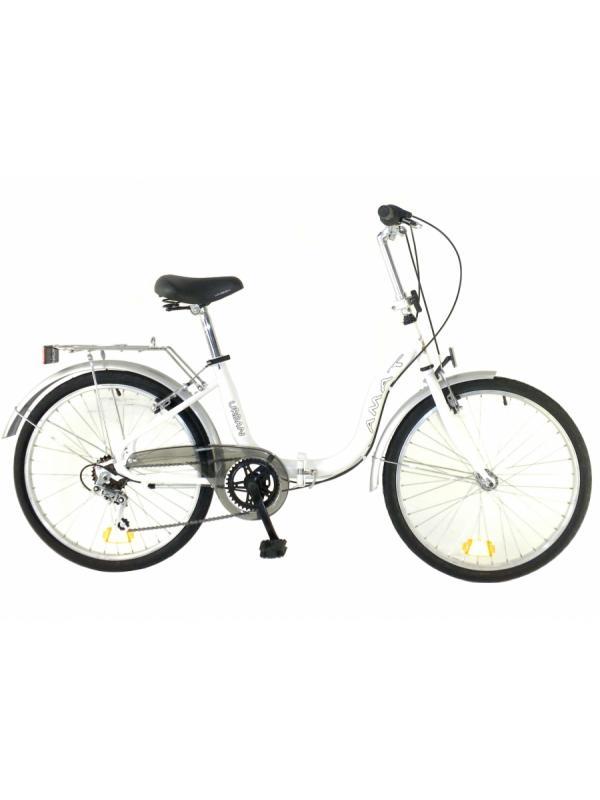 Amat Urban 24 pulgadas bicicletas plegables - Bicicleta urbana de 24 pulgadas plegable. 6 velocidades. Chasis diseñado para subirse y bajarse muy fácilmente.