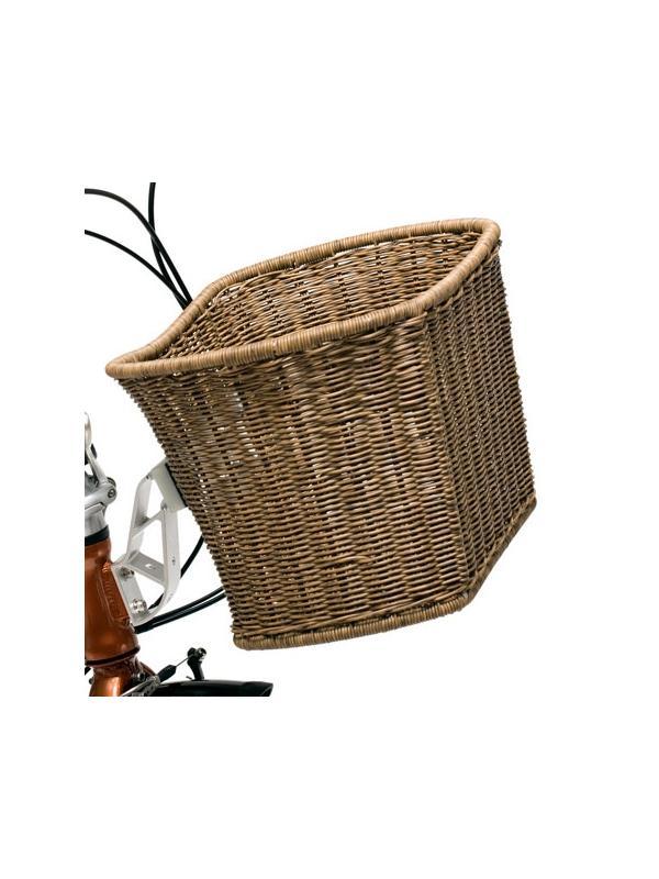 Cesta para soporte original DAHON  - Cesta original DAHON para soporte original de la marca. Fabricada en plástico y aluminio, efecto cesta de mimbre. Alta calidad en los materiales y la garantía de Dahon.