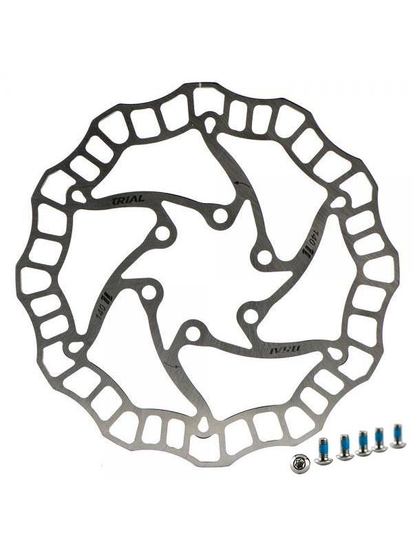 Disco de freno Tr1AL 160mm SUPERLIGHT - Disco de freno TR1AL de 160mm de diámetro. TR1AL es la marca hermana de Jitsie. Disco ideal para la práctica de BikeTrial, idóneo para la competición. Peso: 85gr.