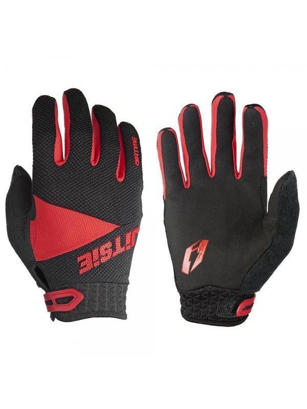 Guantes Jitsie Airtime - Negro y rojo - Los guantes Jitsie Airtime estan diseñados para la práctica del biketrial y en especial para la alta cometición. Ofrecen la máxima comodidad, buen tacto y transpiración.