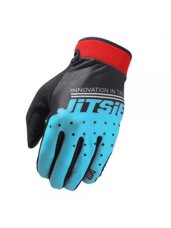 Guantes Jitsie Data - Azul - Los nuevos guantes Jitsie Data estan diseñados para la práctica del biketrial y en especial para la alta competición. Ofrecen la máxima comodidad, tacto y transpiración.