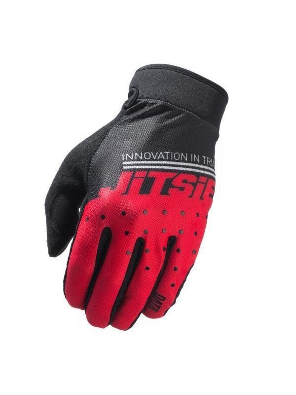 Guantes Jitsie Data - Rojo - Los nuevos guantes Jitsie Data estan diseñados para la práctica del biketrial y en especial para la alta competición. Ofrecen la máxima comodidad, tacto y transpiración.