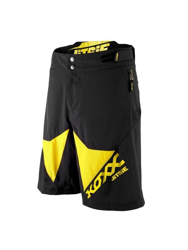 Pantalón Jitsie Airtime - KOXX Negro y amarillo - Pantalón técnico de competición Jitise Airtime para BikeTrial y Trial. Fabricado con tejidos de alta calidad, que ofrecen una gran transpiración, ligereza y elasticidad. Máxima comodidad en cualquier circunstancia. Pantalones preparados para la alta competición de BikeTrial/Trial. Este modelo con acabados de alta calidad es resultado de más de dos años de desarrollo y pruebas con los mejores pilotos del mundo