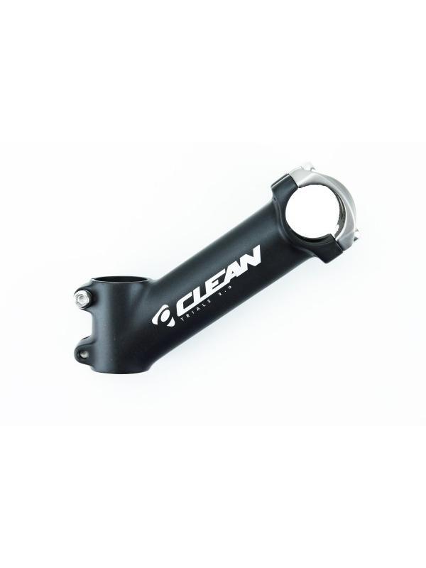 Potencia Clean 130x35 - Potencia Clean de 130mm x 35º compatible con todos los manillares de BikeTrial de 31.8mm de diámetro. Sujección de 4 tornillos para poner con comodidad en cualquier manillar.