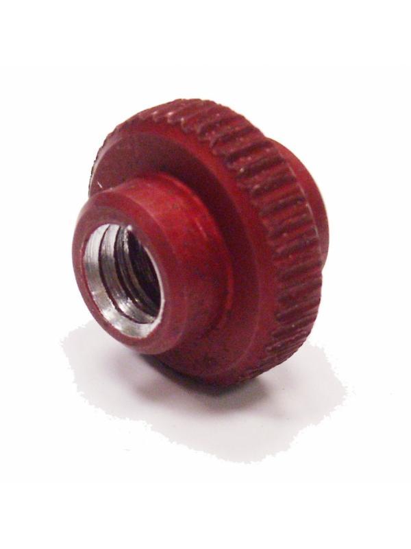 Tensor metálico para maneta Magura HS33 Chorrillas - Ruedecilla para ajuste de freno Magura HS33 fabricada en aluminio. Sustituye a la ruedecilla original de plástico. Más resistente y duradera. Adaptable a manetas HS33 con ruedecilla integrada en la maneta.