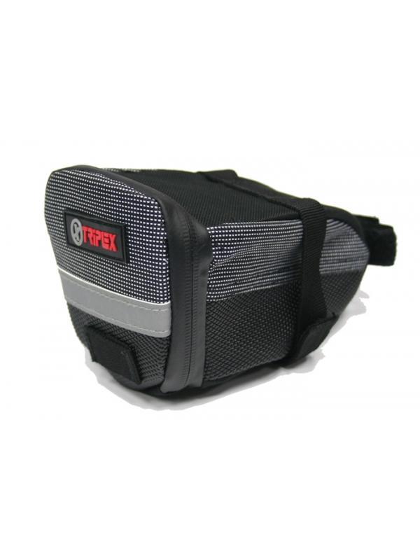 Bolsa portaherramientas MTB - Bolsa portaherramientas para colocar debajo del asiento de tu bici. Una cámara, las llaves allen, una pequeña mancha, el móvil, .... todo lo que necesitas en tus salidas cabe en ella, sin estorbar ni cargarte la espalda. Fijación mediante cinta de velcro. Cremallera impermeable.