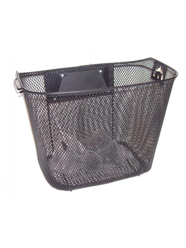 Cesta metálica extraíble - Cesta metálica con anclaje para un fácil montaje y desmontaje. Gran capacidad de carga. Asa para poder llevarla una vez desmontada de la bicicleta. Se coloca en pocos segundos. Una cesta ideal para el día a día. Adaptable a la mayoría de bicicletas del mercado.