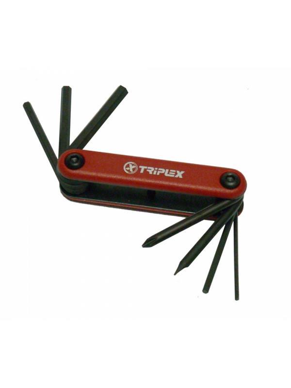 Llave multiuso Triplex - Llave multiuso standard con las principales llaves para las reparaciones de urgencia. Cabe en cualquier bolsillo.