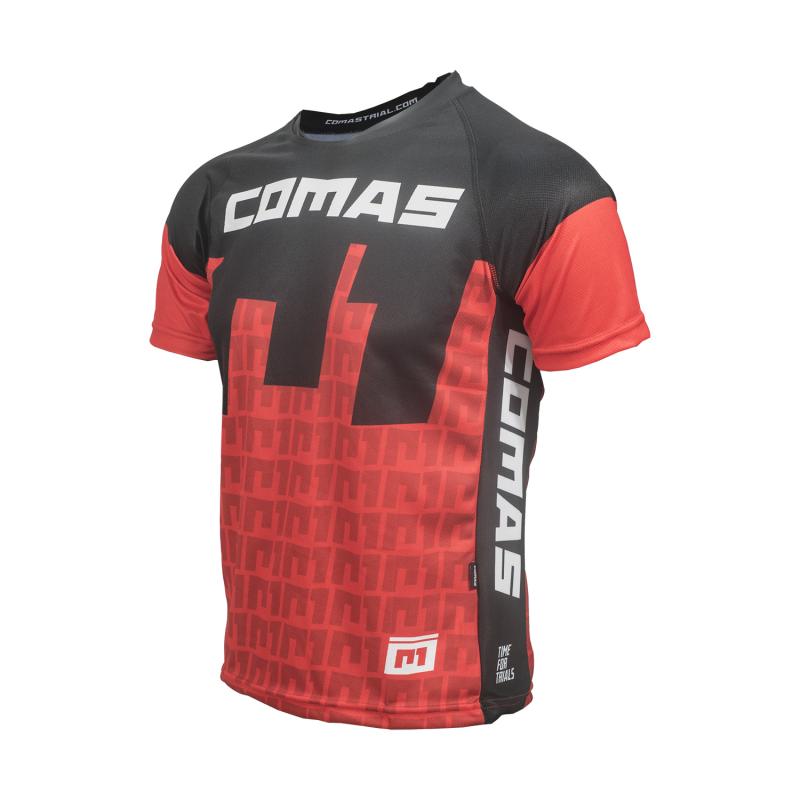 Camieta técnica Comas - Rojo - Camiseta técnica de manga corta de la marca Comas con nuevo y exlusivo diseño. Especialmente diseñada para la práctica de trial, tanto en bici como en moto.