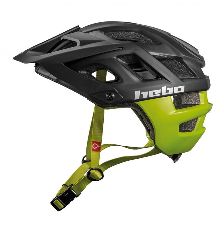 Casco Hebo Crank 1.0 - Negro/Verde - Nuevo casco Hebo Crank 1.0. Es un casco ligero, ideal para el trial con ventilación óptima gracias a su innovadora construcción y con un nuevo diseño disponible en varias tallas y colores.