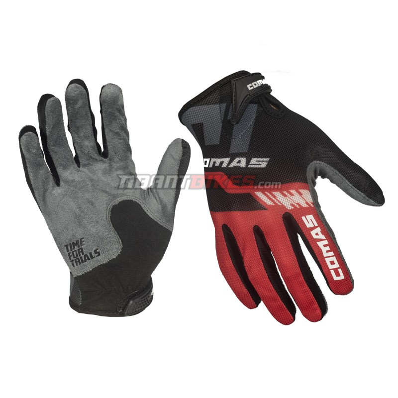 Guantes Comas Race - Rojo - Nuevos guantes Comas Race diseñados especialmente para la práctica del biketrial y son ideales para la alta competición. Ofrecen la máxima comodidad, tacto y transpiración.