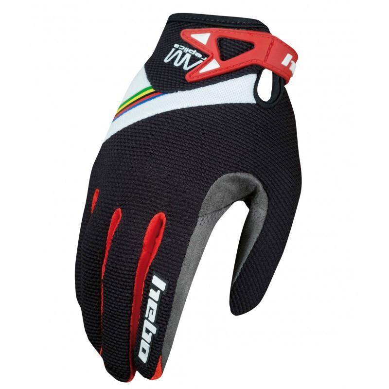 Guantes Hebo AM Replica - Negro - Los guantes Hebo AM Replica estan diseñados para la práctica del biketrial y en especial para la alta competición. Ofrecen la máxima comodidad, tacto y transpiración.