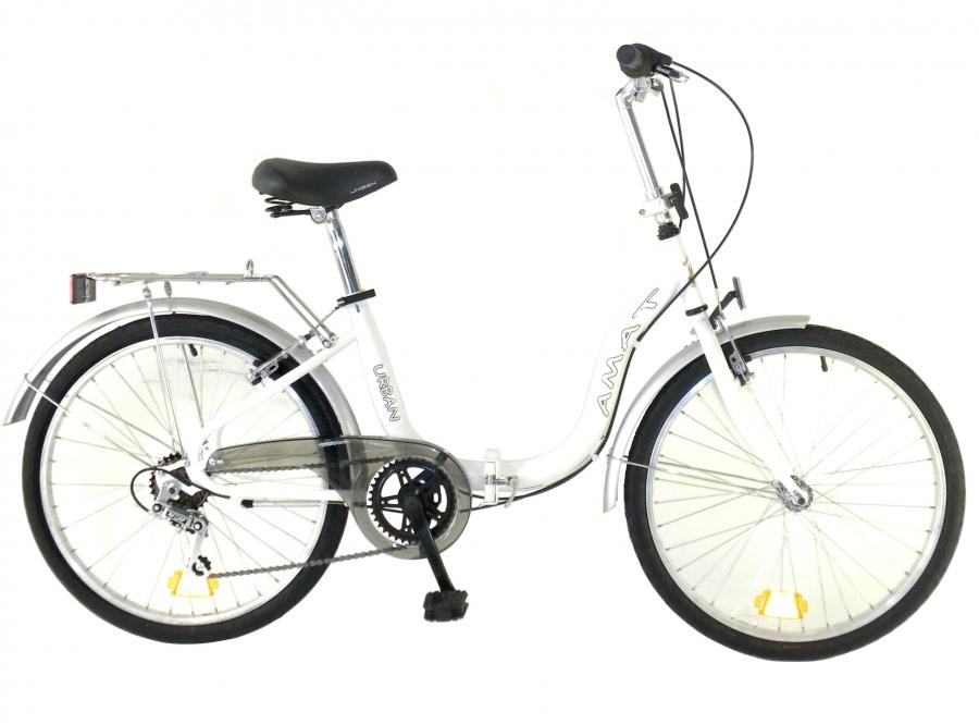 Amat Urban 24 pulgadas blanca bicicletas plegables